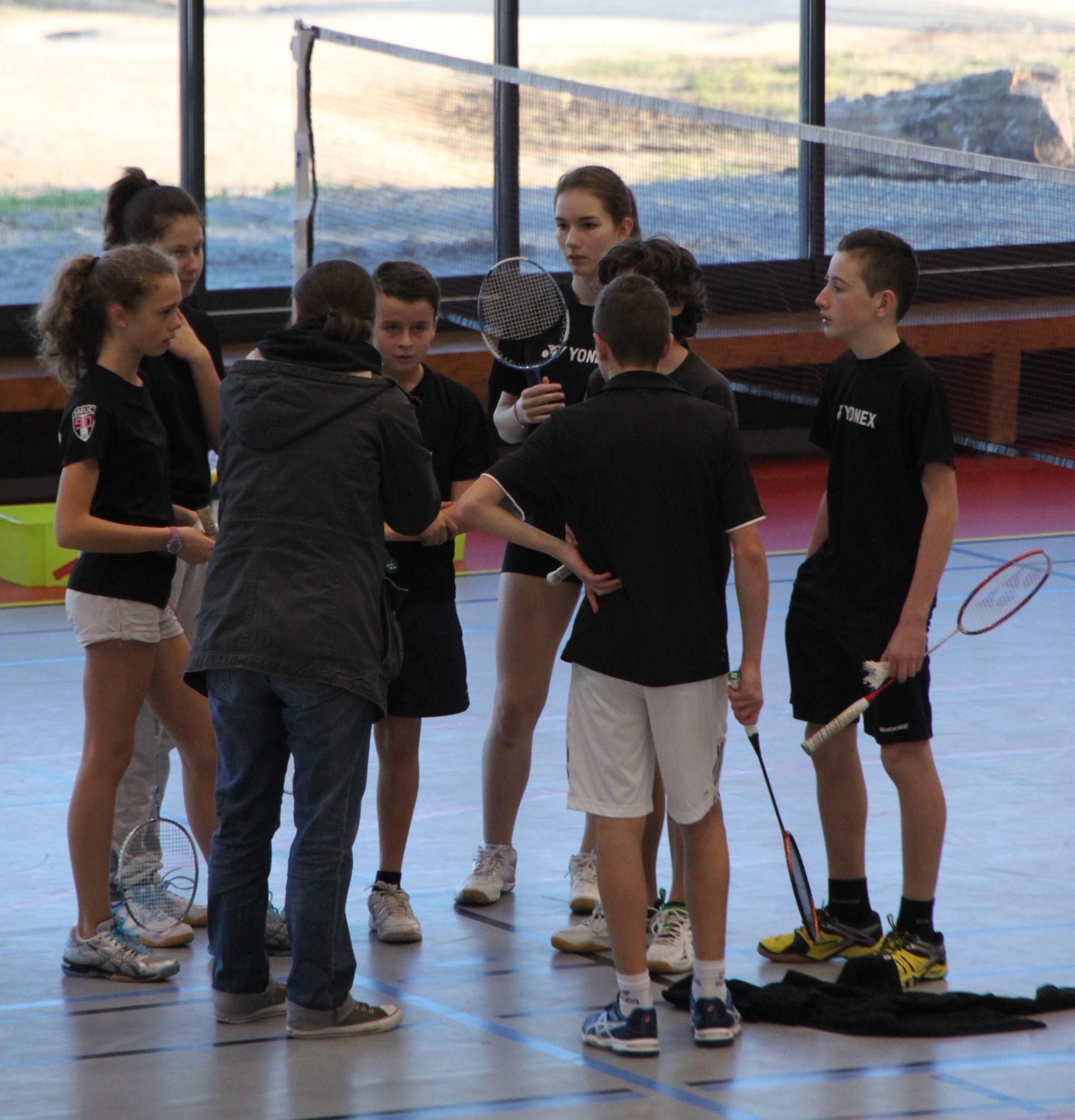 hauteur filet badminton poussin
